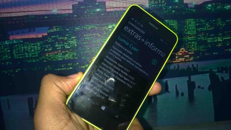 Lumia 630 com atualização Lumia Cyan