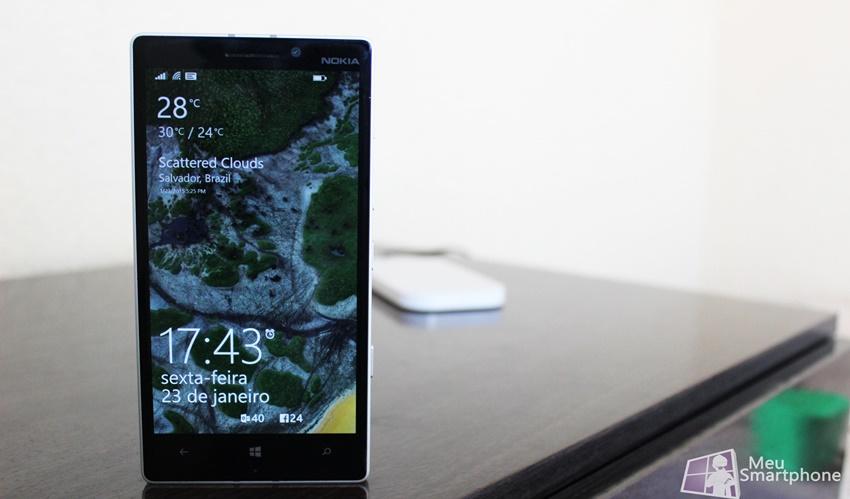 Tela de bloqueio Lumia 930