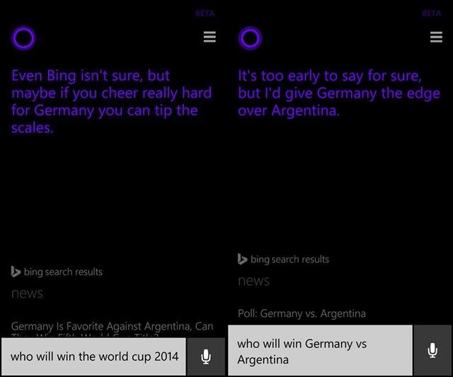 Cortana Copa 2014