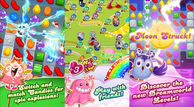 Candy Crush Saga Screen