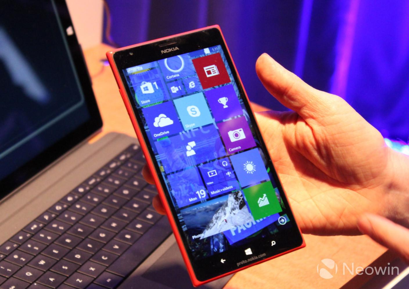 Novas imagens do Windows 10 para smartphones!