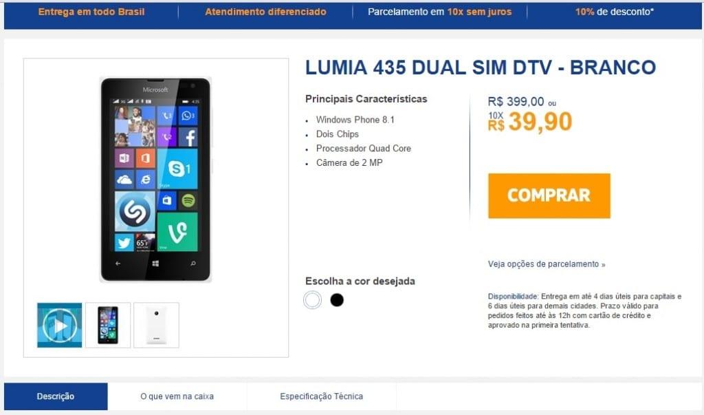 Lumia 435 TV