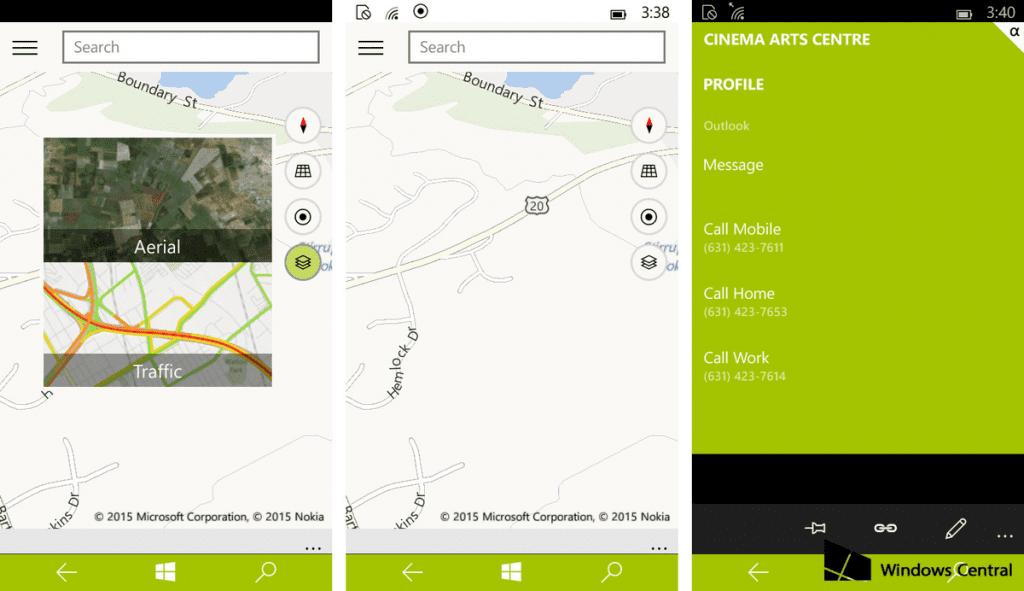 Mapas Windows 10