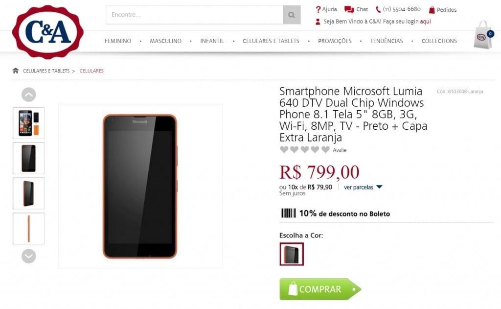 Lumia 640 C&A