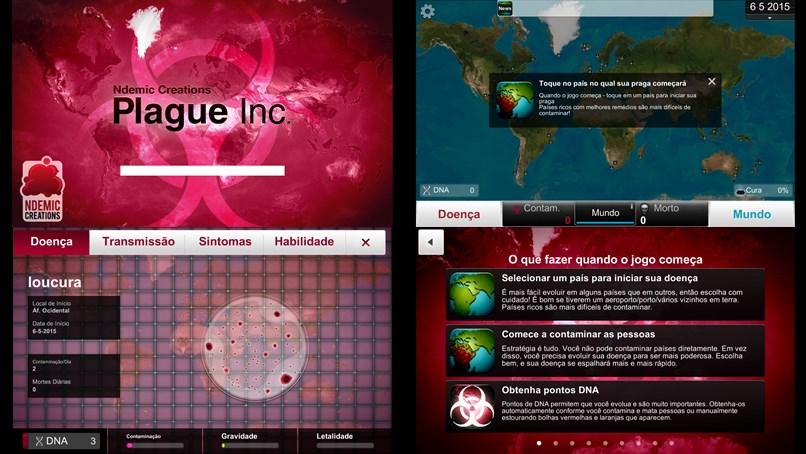 Algumas capturas de tela do jogo