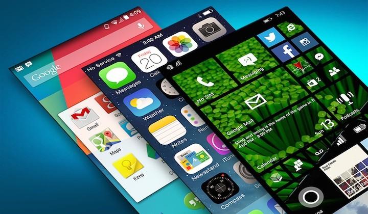 iOS Android Windows 10