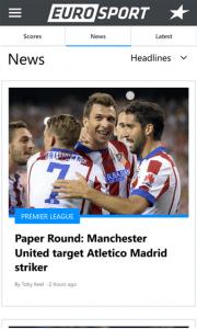 Eurosport screen
