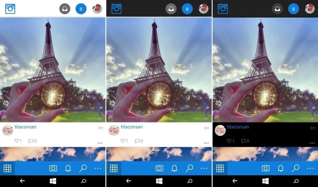 Instagram Comparação de apps