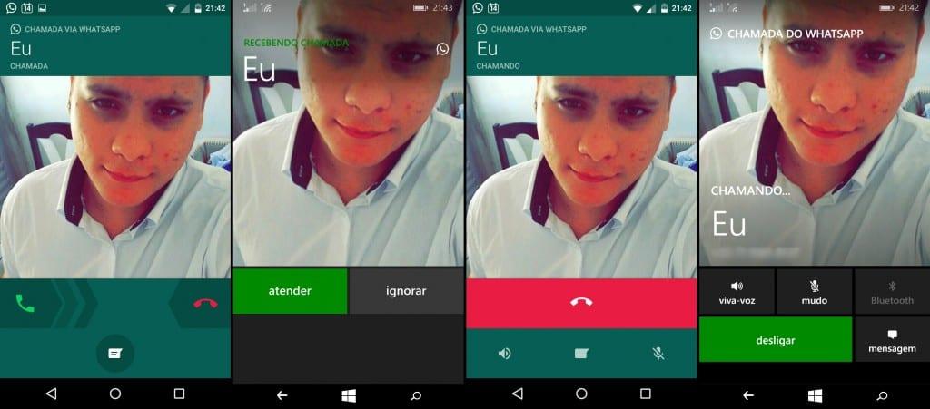 Recebendo Chamada Whatsapp Windows Phone x Android