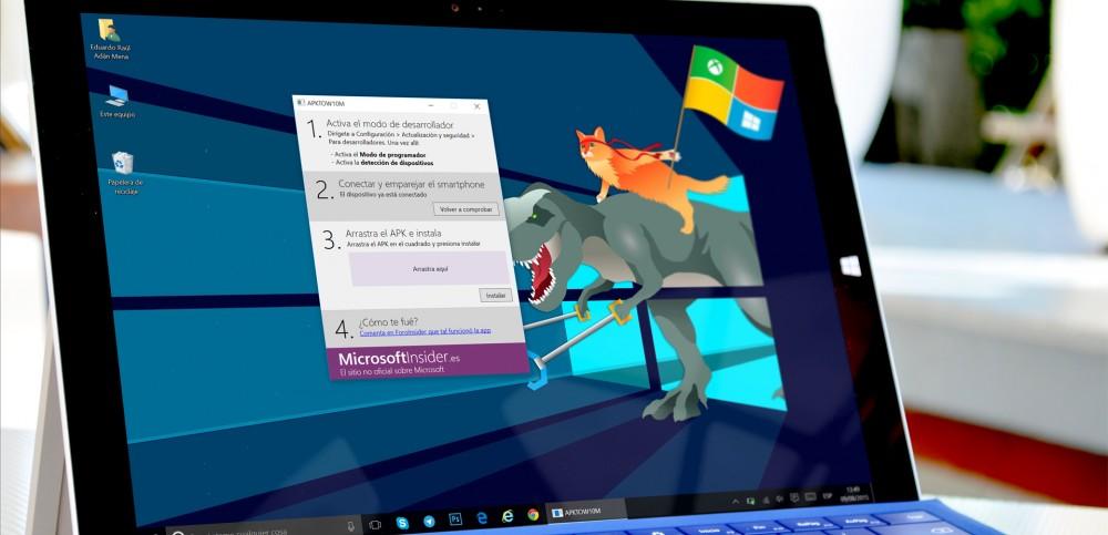 como instalar apk en pc windows 10
