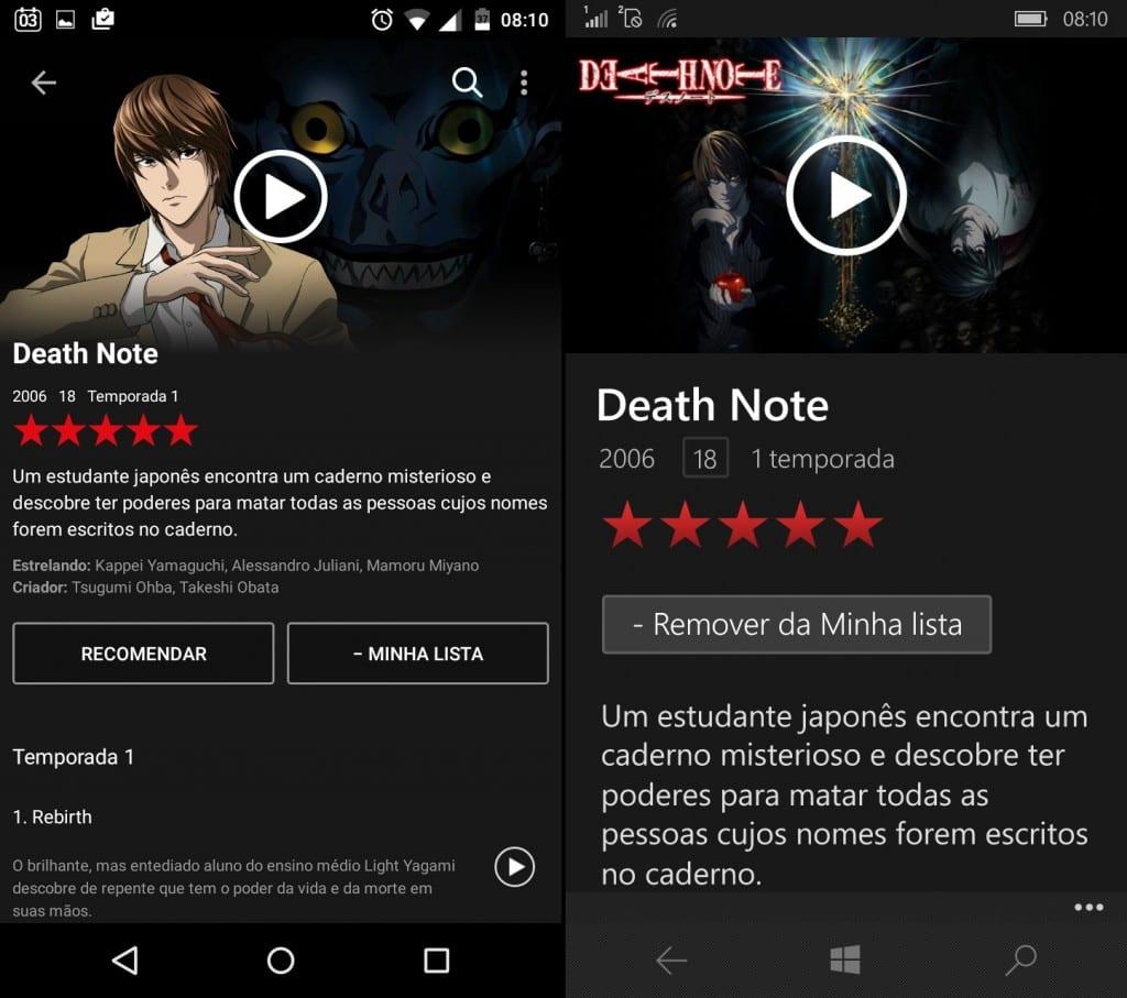 comparativo de apps #9: Netflix