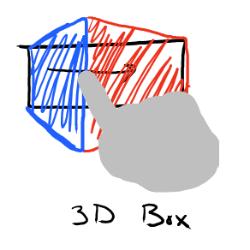 3D Box: Essa opção replica o efeito adicionado nas live tiles da versão para desktop, porem podendo ter suas informações mudadas manualmente.