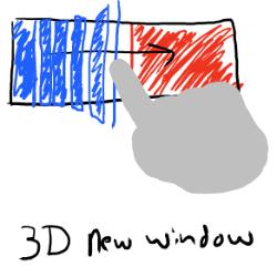 3D Window: O efeito trás uma experiência visual como uma cascata em alto relevo.