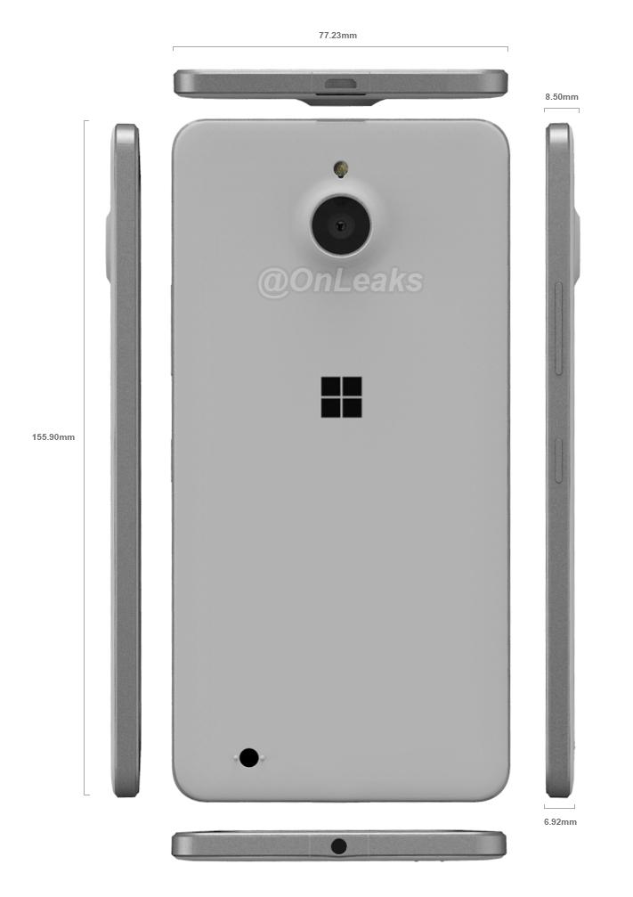 Microsoft-Lumia-850-Dimensions