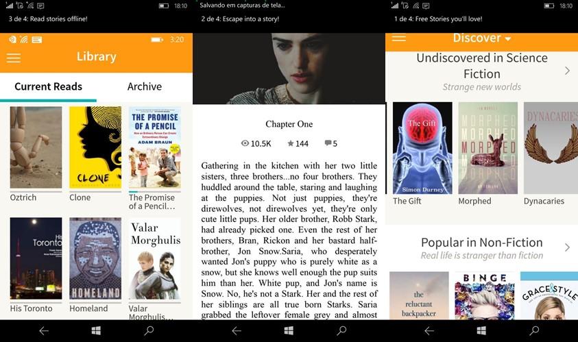 Wattpad, o popular eBook Reader já está disponível na Windows Store