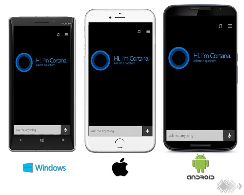 cortana Android iOS Windows