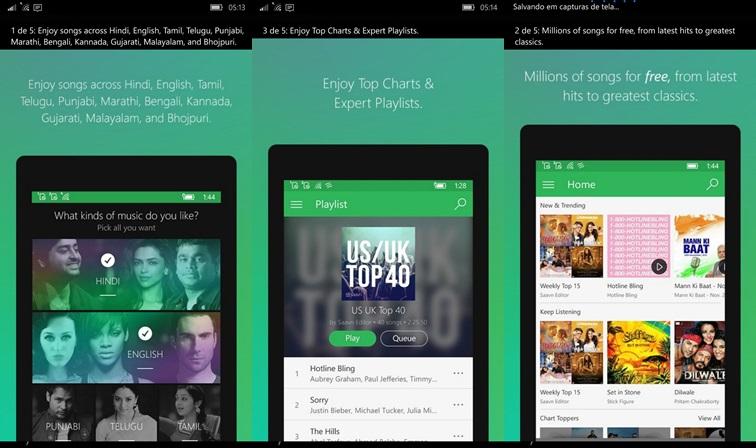 Saavn Música & Rádio, é O Mais Novo App Universal Do