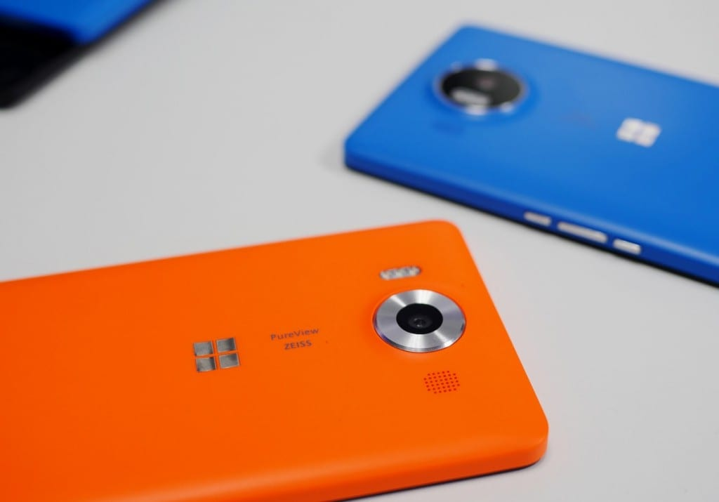 Lumia-950 Laranja Azul