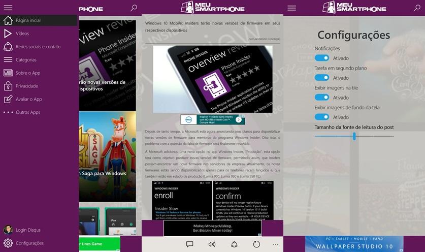 meu-smartphones prints Windows 10