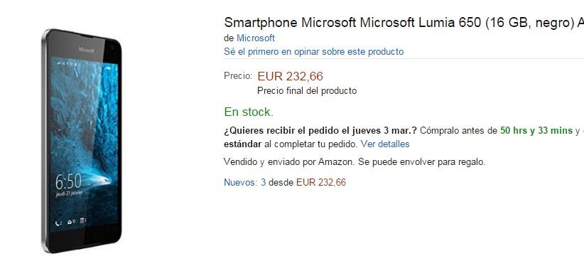 Amazon Lumia 650