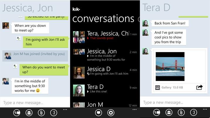 Kik-Messenger Windows Phone