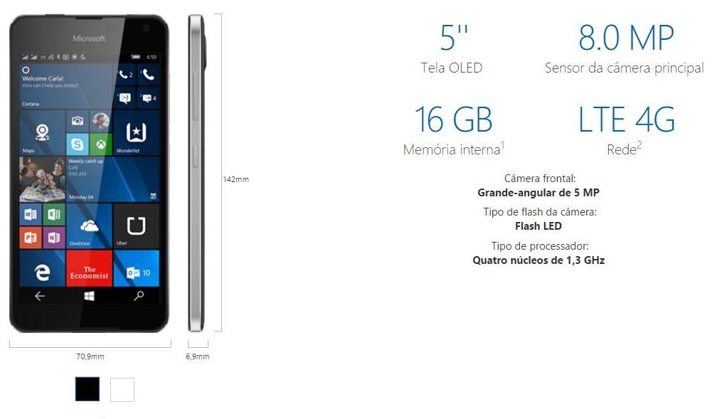 Lumia 650 MS Brasil
