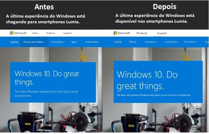 antes-depois Windows 10 Mobile