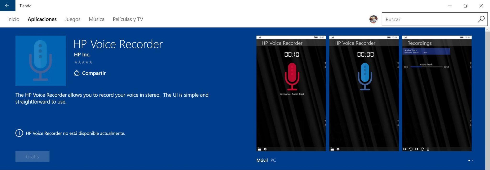 HP-Voice-Recorder