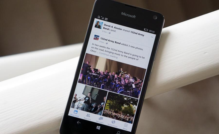 facebook Beta Windows-10 Mobile