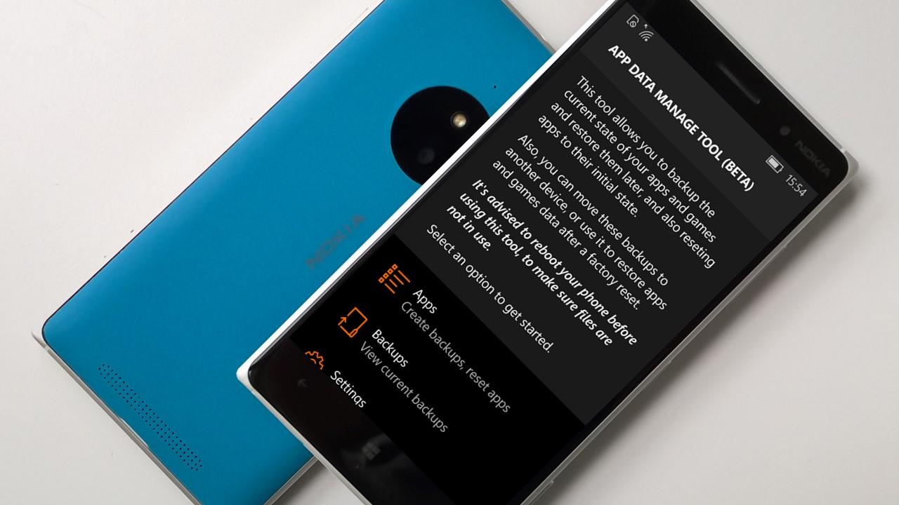 Backup App Windows-10-Mobile