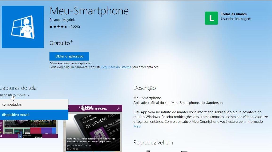 Windows Store Loja de Aplicativos