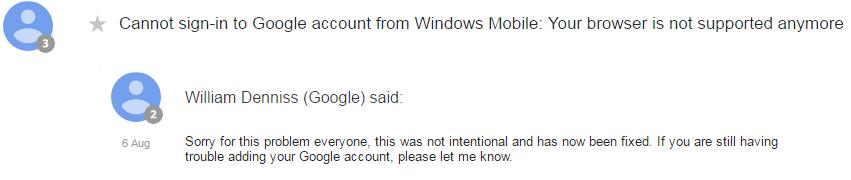 google resposta