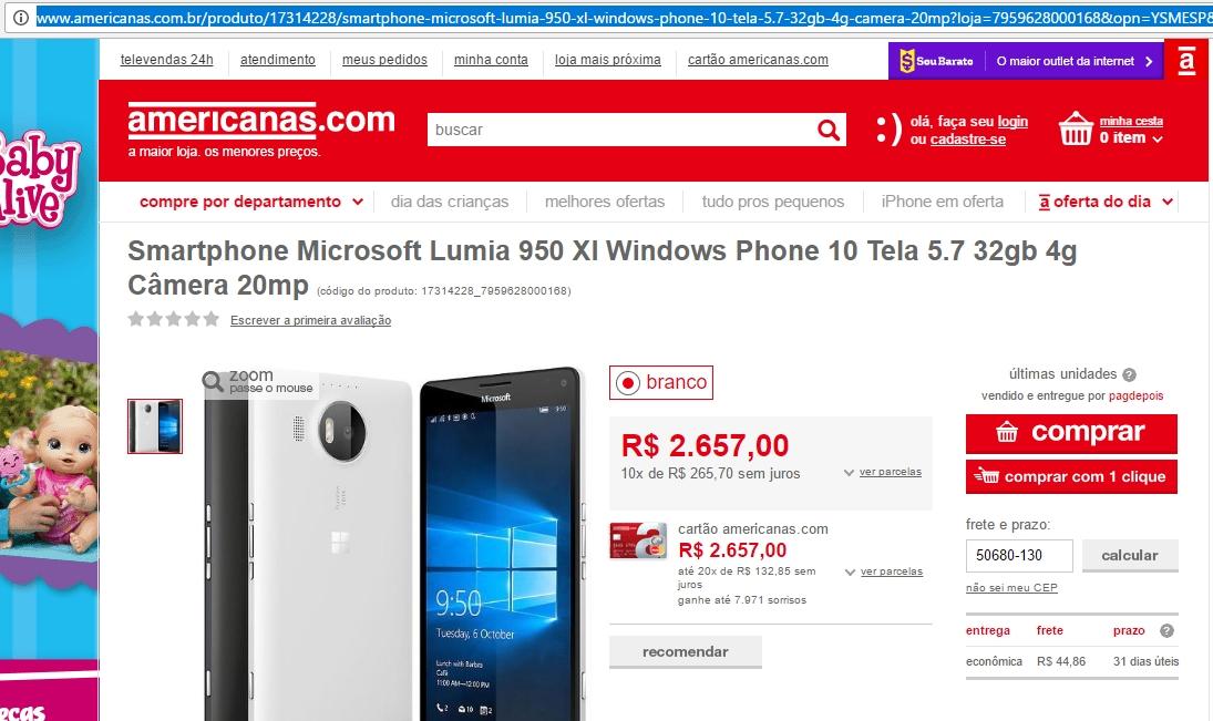 americanas-lumia-950-xl