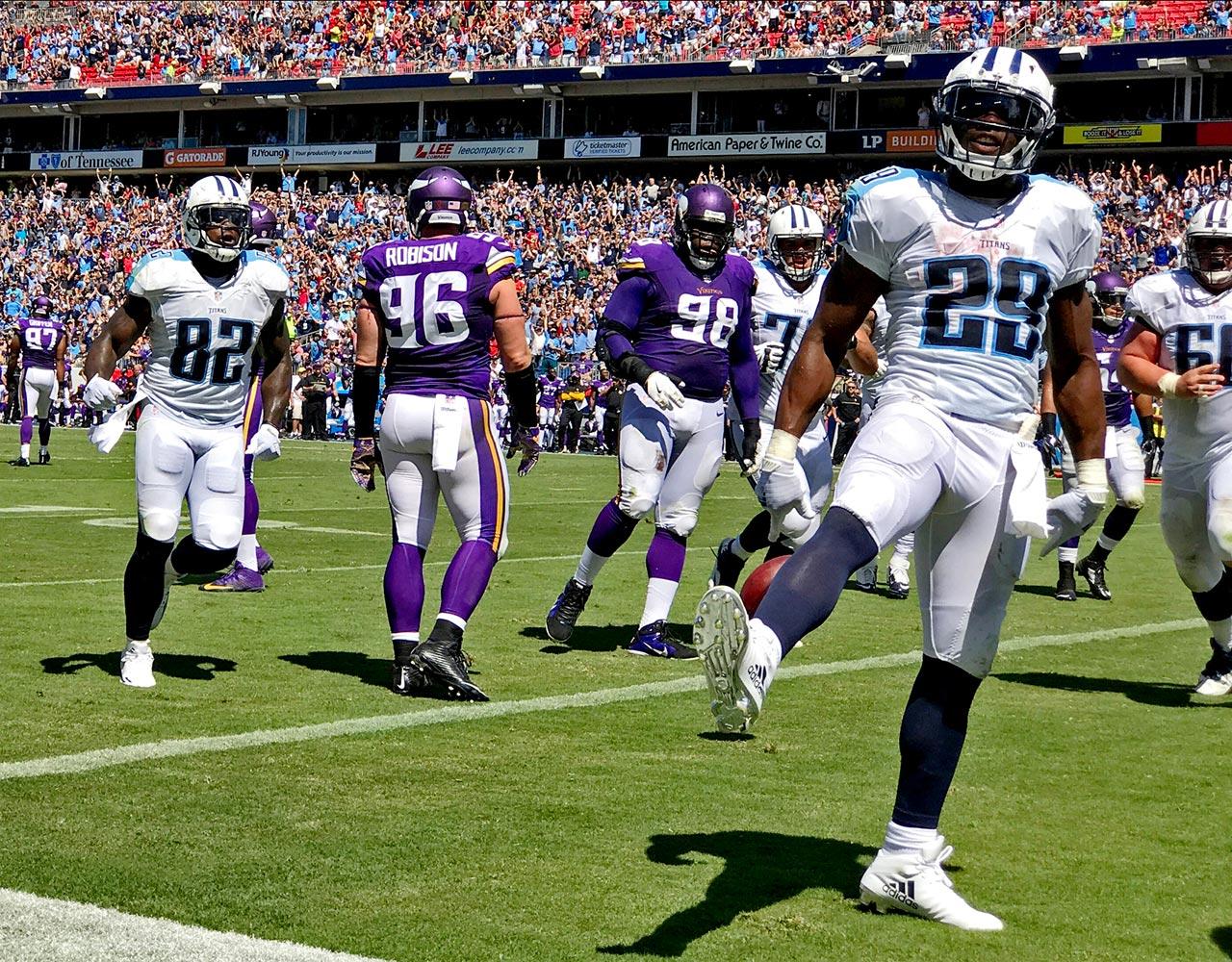 NFL: Minnesota Vikings vs Tennessee Titans NFL: Minnesota Vikings vs Tennessee Titans Nissan Stadium/Nashville, TN 09/11/2016 SI-537 TK1 Credit: David Klutho