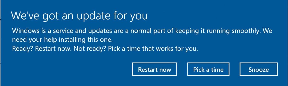 Resultado de imagem para adiar atualização do windows notificação