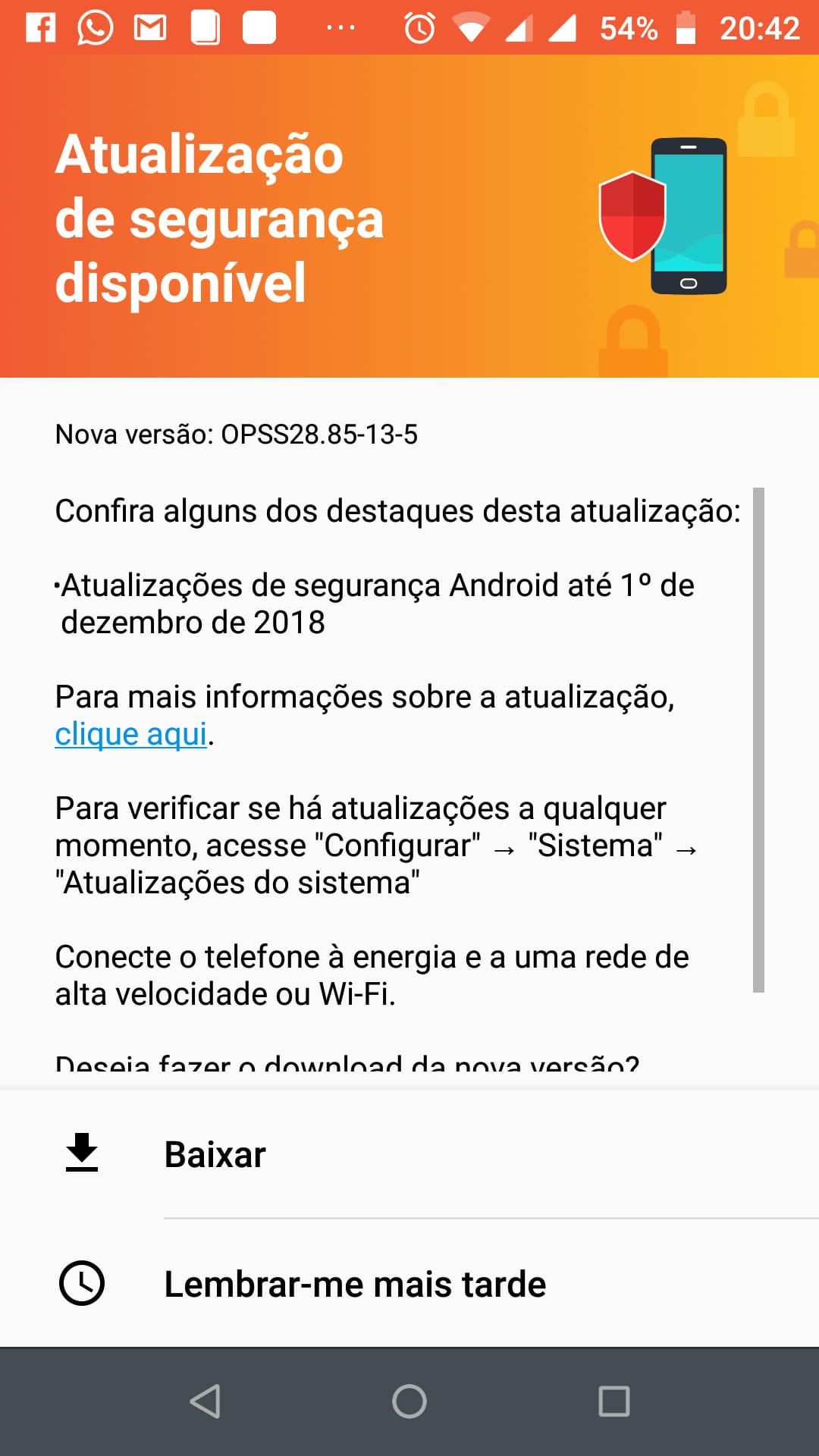 Motorola lança update corretivo de dezembro para donos do