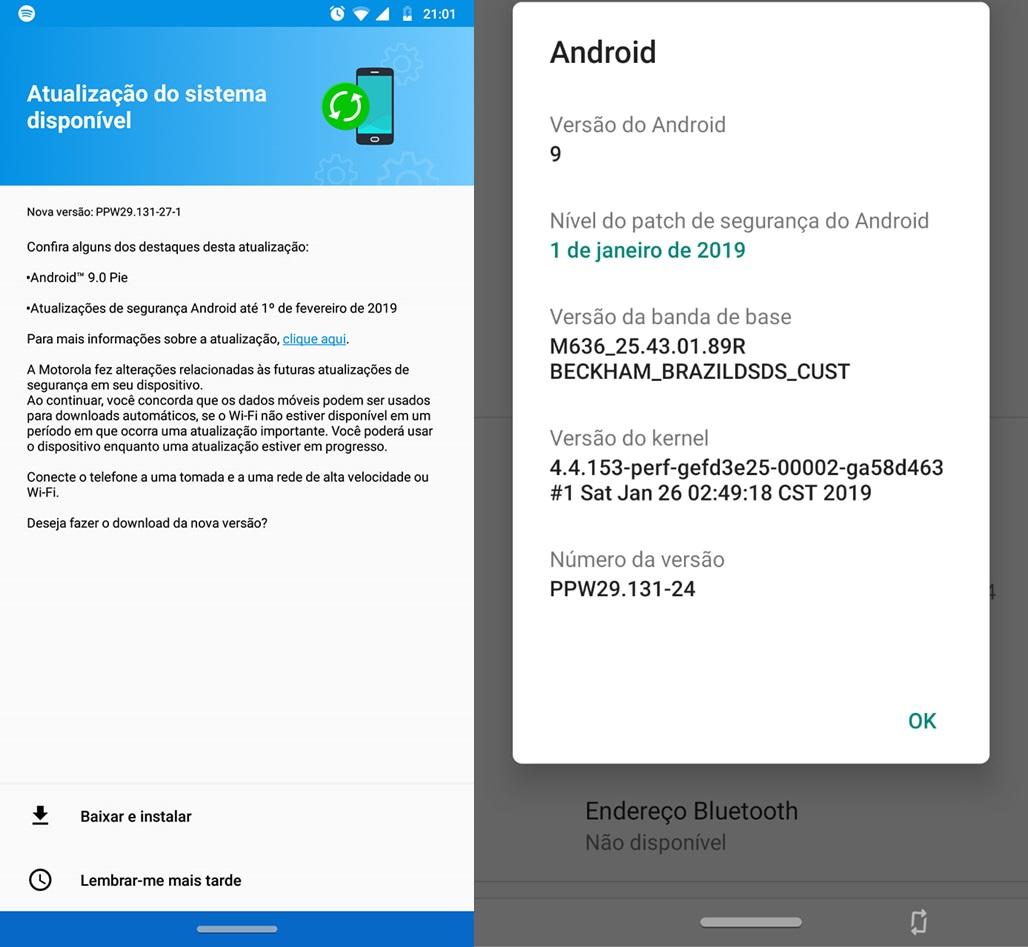 Jurassic Team A Motorola finalmente libera a primeira modificação de software para o Moto Z3 Play no Brasil